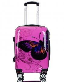 Gloria Kaos Black - Suitcase - Butterfly Fuxia 55cm - 002