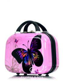 Gloria Kaos Mini Vanity Case Butterfly Pink 001