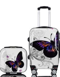 Gloria Kaos Suitcase - Bis Butterfly 55cm Chrome + VC - 001