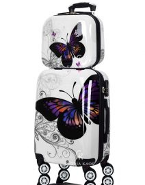 Gloria Kaos Suitcase - Bis Butterfly 55cm Chrome + VC - 002