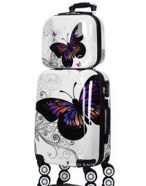 Gloria Kaos Suitcase - Bis Butterfly 55cm Chrome + VC - 002